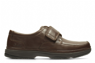 Clarks Mens Swift Turn Brown Leather Shoes